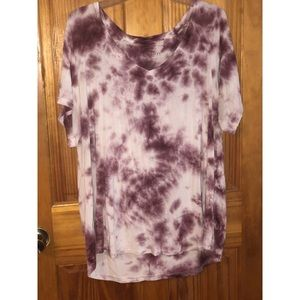 Pink and white the dye shirt